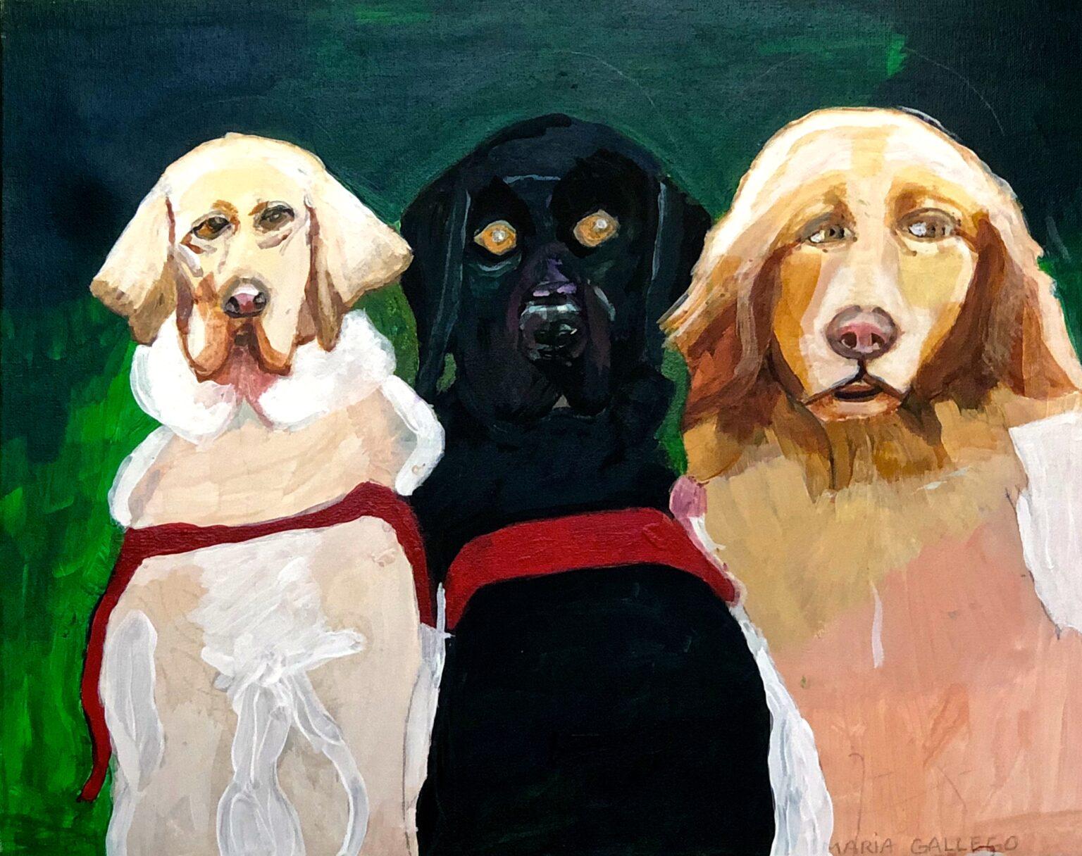 "Maria G. ""Seeing Eye Dogs"" 16 x 20"