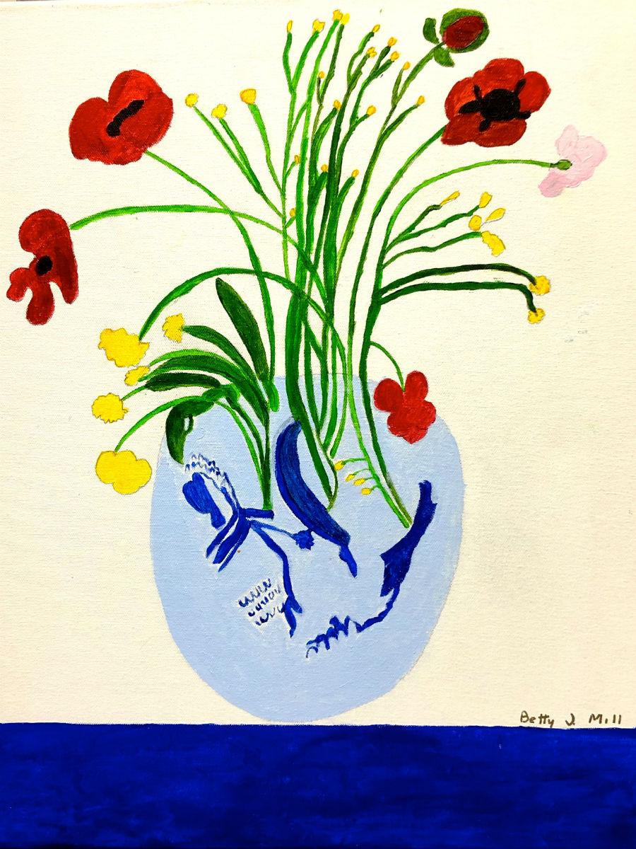 "Betty M. ""Vase of Flowers"" 16 x 20"